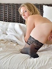 Brianna in Black Stockings
